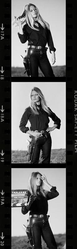 Brigitte Bardot on the set of Les Petroleuses Spain 1971