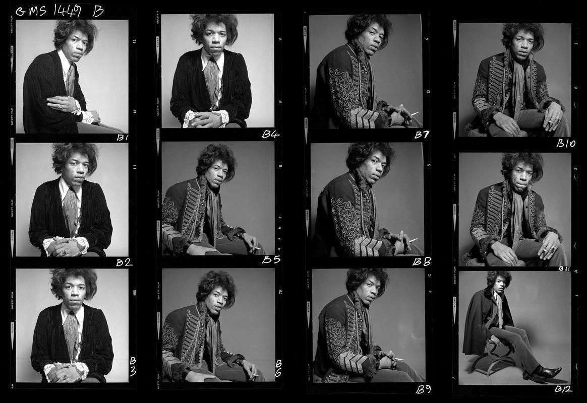 Gered Mankowitz Jimi Hendrix London 1967 Gelatin silver print 50.8 x 61 cm Gered Mankowitz Iconic Images scaled