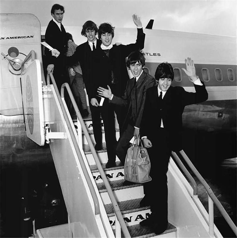 bEATLES 1st time in us