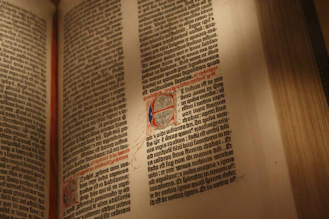 Gutenberg Bible New York Public Library USA. Pic 03 660x440