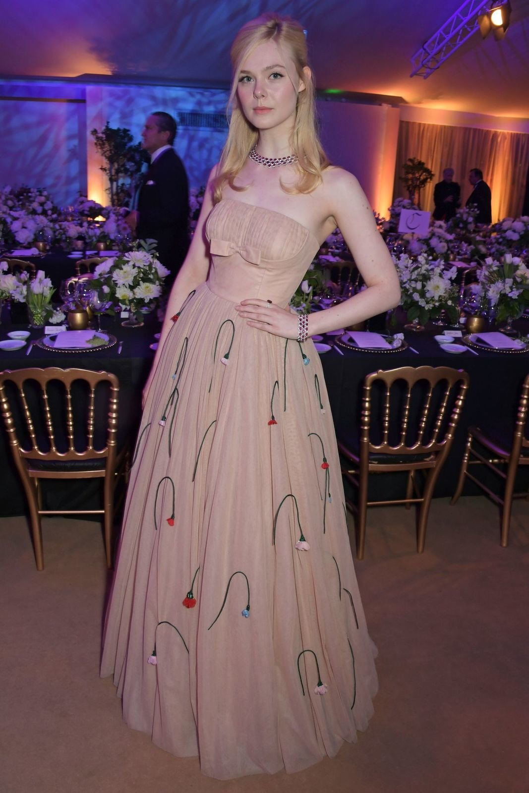 elle fanning attends the official trophee chopard dinner as news photo 1145311755 1558454478