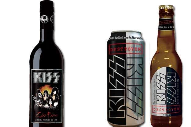 Kiss wine beer