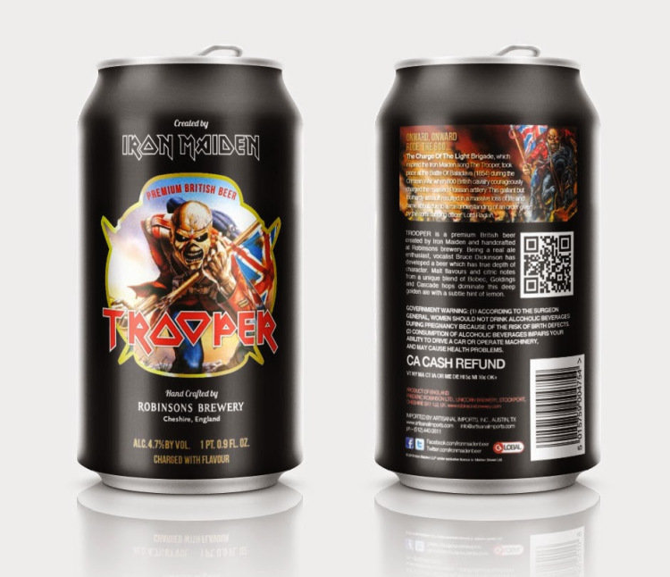 iron maiden trooper beer can