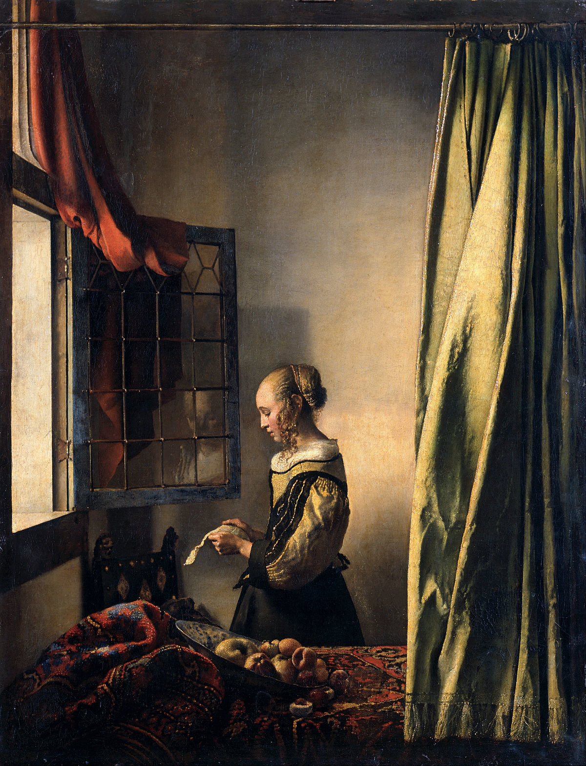 Αποτέλεσμα εικόνας για κοριτσι που διαβαζει γραμμα μπροστα απο ανοιχτο παραθυρο