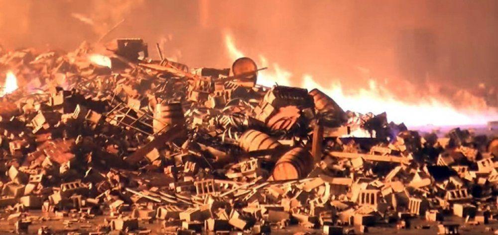 Κεραυνός κατέστρεψε 45.000 βαρέλια μπέρμπον
