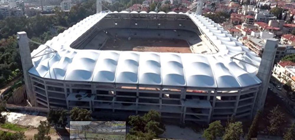 Δείτε το γήπεδο της ΑΕΚ με το σκέπαστρο από ψηλά