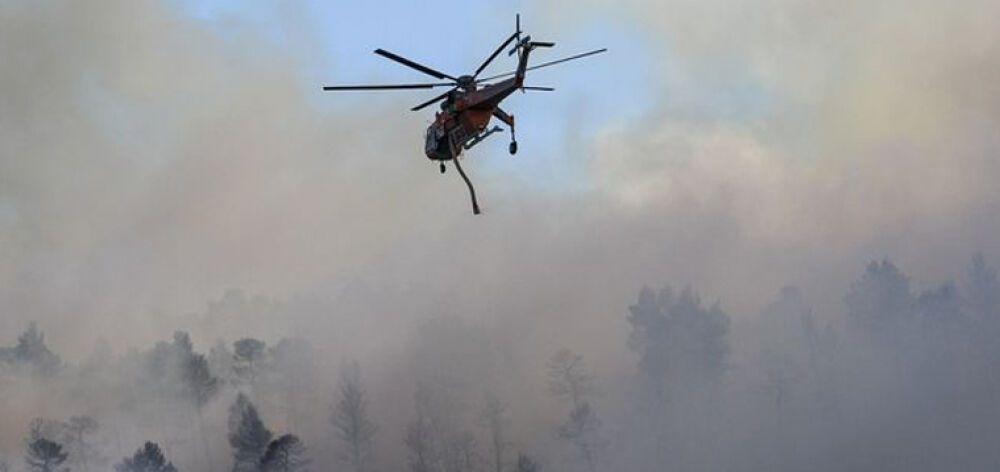 Μάχη με τη φωτιά στην Εύβοια