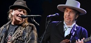 Bob Dylan και Neil Young μαζί στην σκηνή!