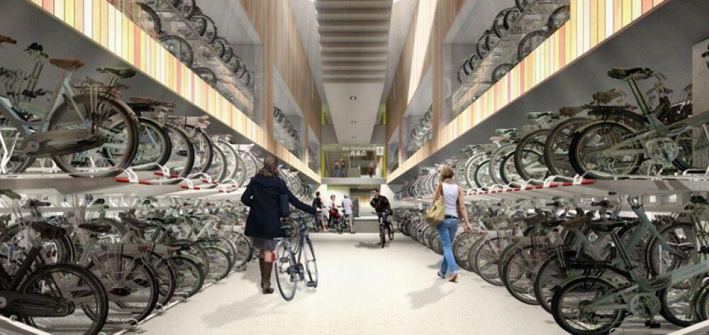 Εγκαινιάστηκε το μεγαλύτερο πάρκινγκ ποδηλάτων στον κόσμο